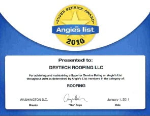 Drytech Roofing Company Certifications Aberdeen Maryland