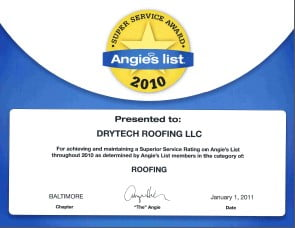 DryTech Baltimore Angies List 2010